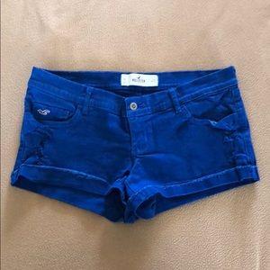 Women's Hollister Royal Blue Denim Shorts (Size 9)